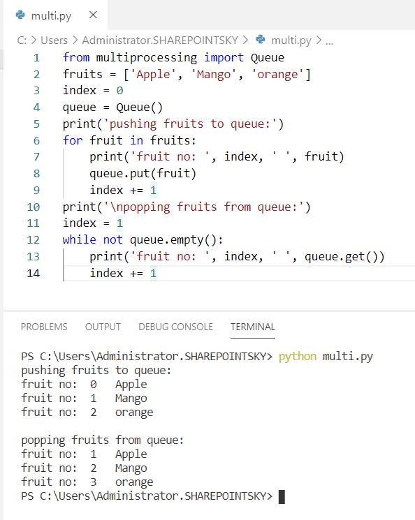 Python multiprocessing Queue classPython multiprocessing Queue class