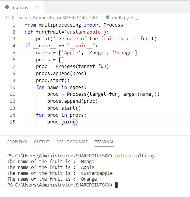 Python multiprocessing process class