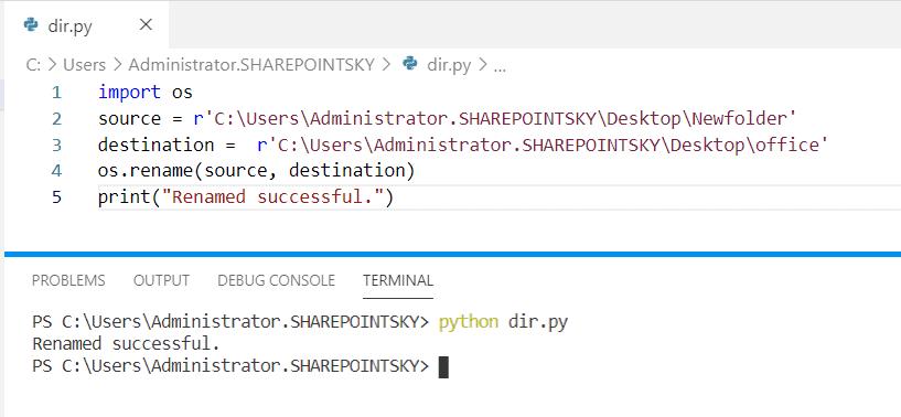 Python os change directory name