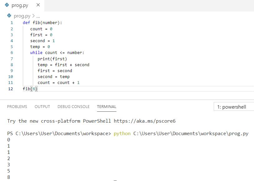 Python program to print fibonacci series using iteration