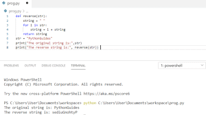 Python program to reverse a string