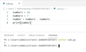 How to subtract two numbers in Python
