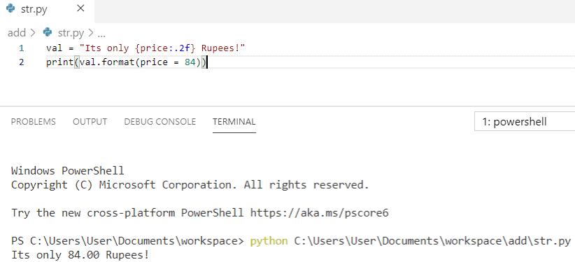 Python string format methods