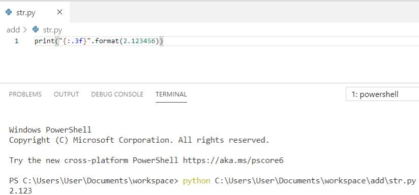 Python string formatting decimal places