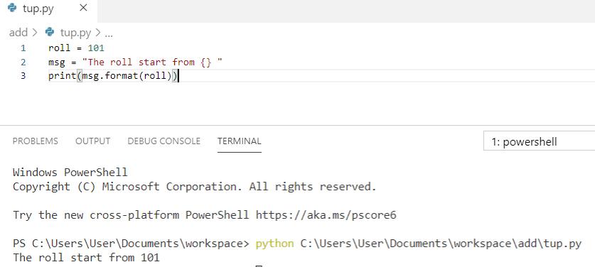 Python string formatting