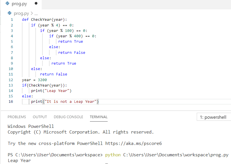 Python program to check leap year using function
