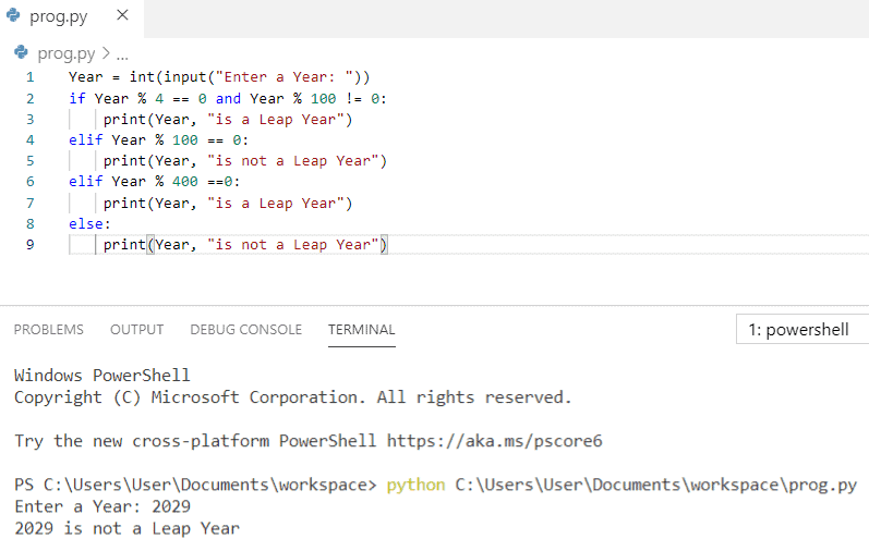 Python program to find the input year is leap or not