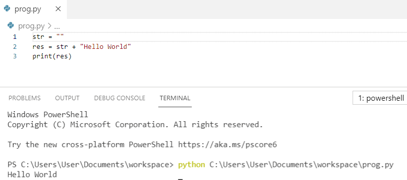 How to append to an empty string in python