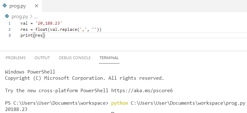 How to convert a string with commas to a float in python