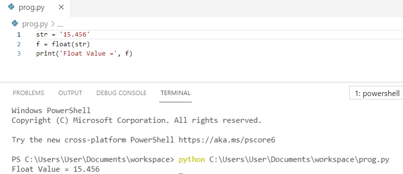 How to convert string to float python