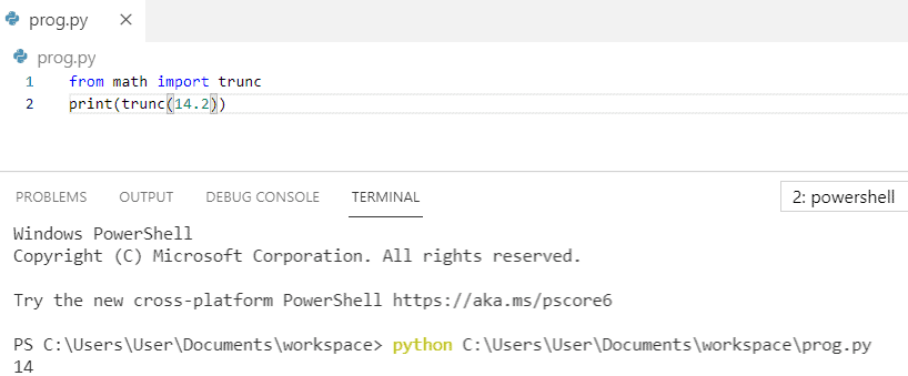 How to transform float to int python