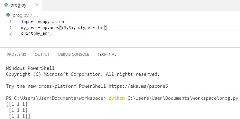 Python NumPy Array