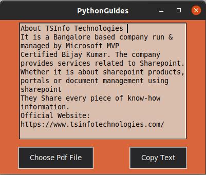 Python tkinter copy Pdf