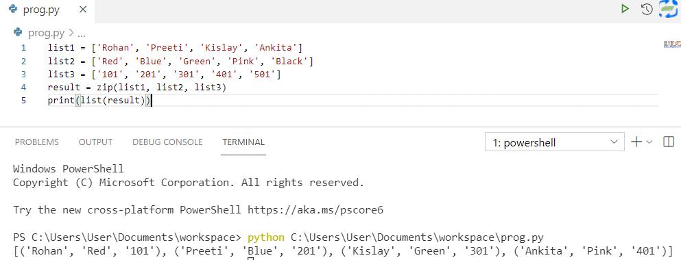 Python zip different length