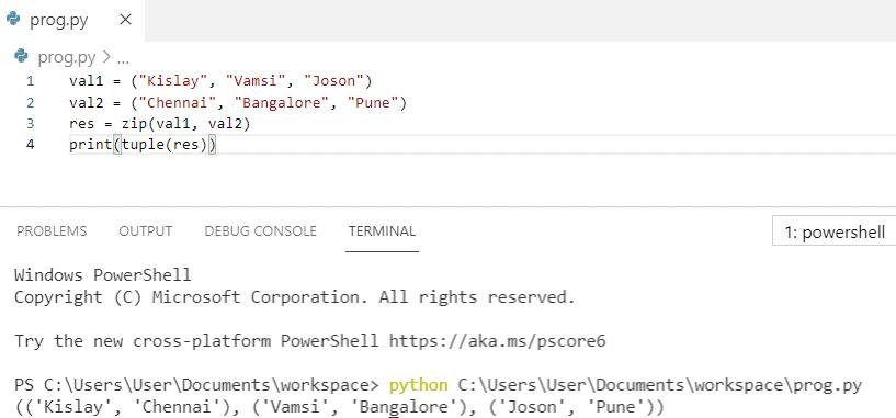 Python zip() method
