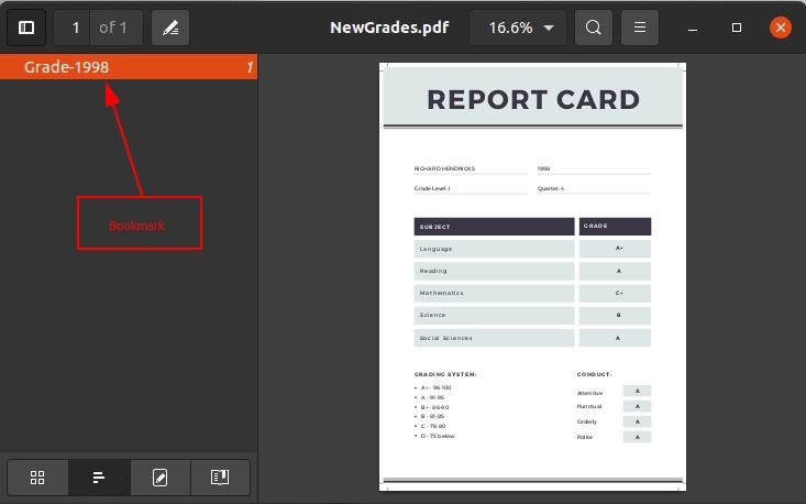 Add Bookmark to PDF using PyPDF2 in Python