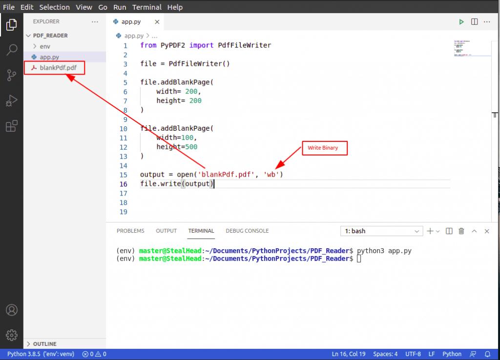 python PyPDF2 addBlankPage