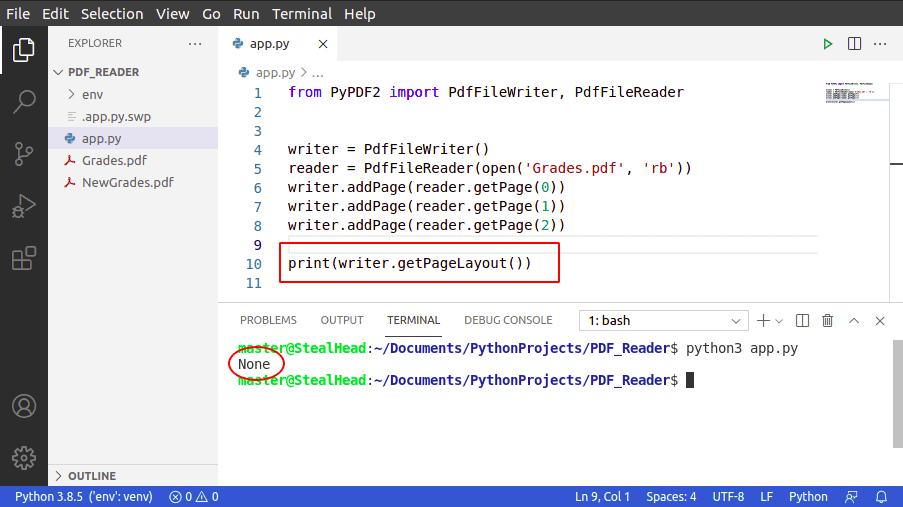python PyPDF2 getPageLayout