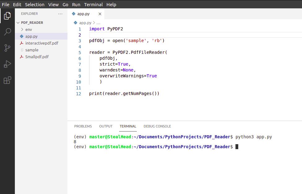 python tkinter PyPDF2 getNumPages