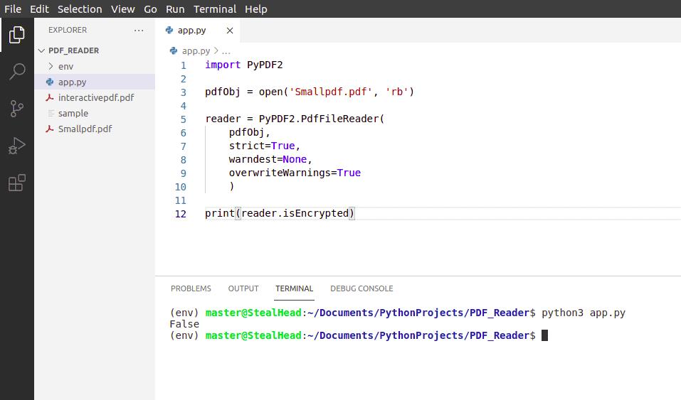 python tkinter PyPDF2 isEncrypted