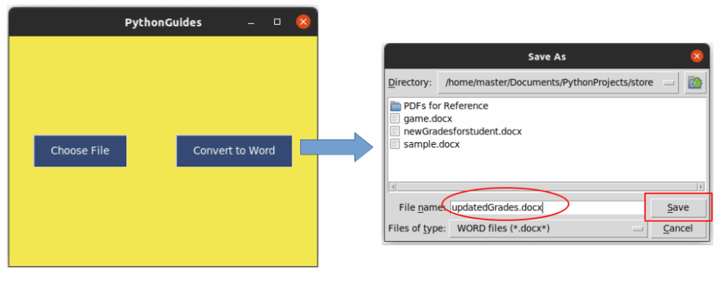How to copy text from pdf to word in Python