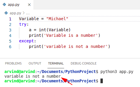 Python check if a variable is not a number