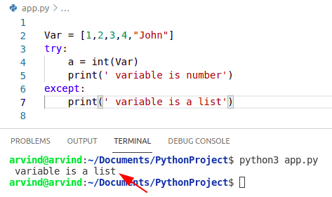Python check if variable is number or list