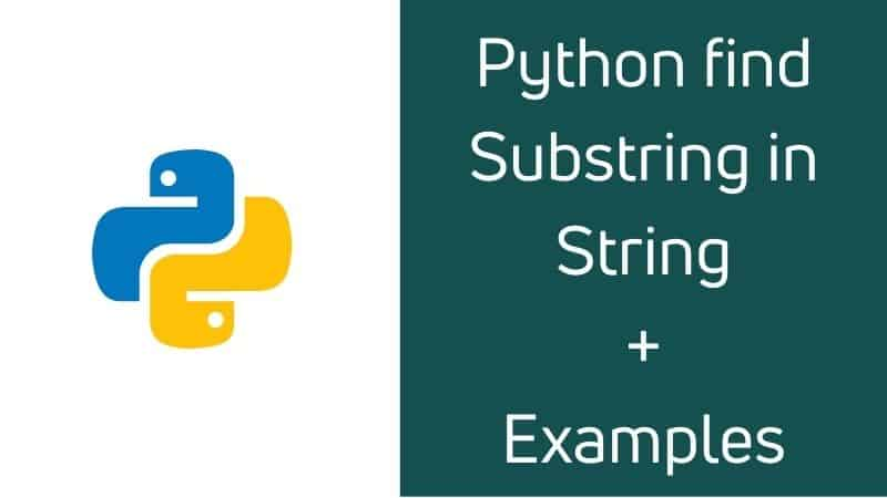 Python find substring in string