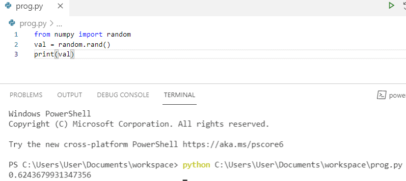 Python generate a random float