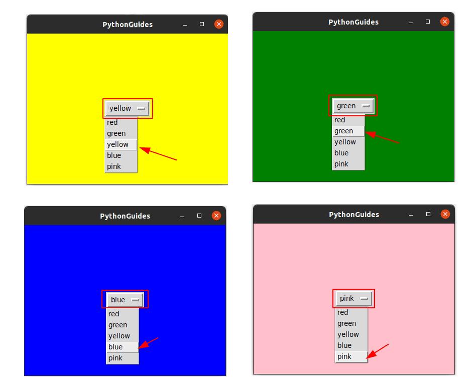 Python tkinter OptionMenu command