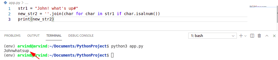 remove a special character from string in python