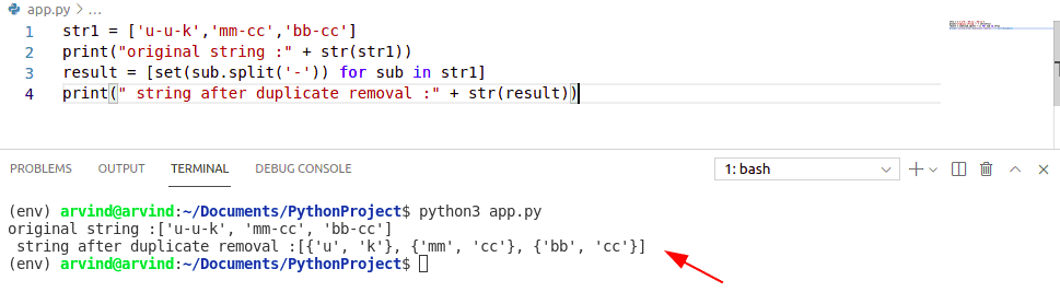 Remove dupicate substring from string python