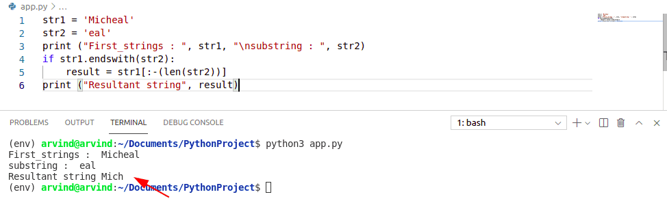 Remove last substring from string python