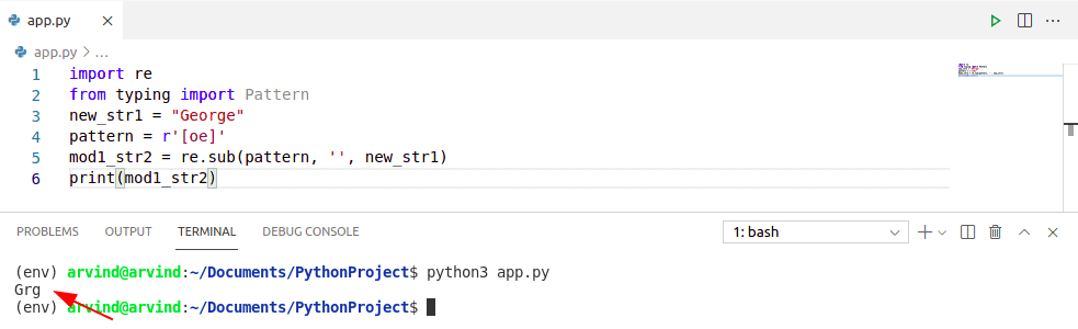 Remove substring from string python regex