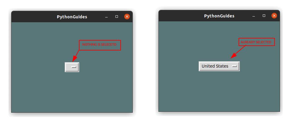 python tkinter OptionMenu set value