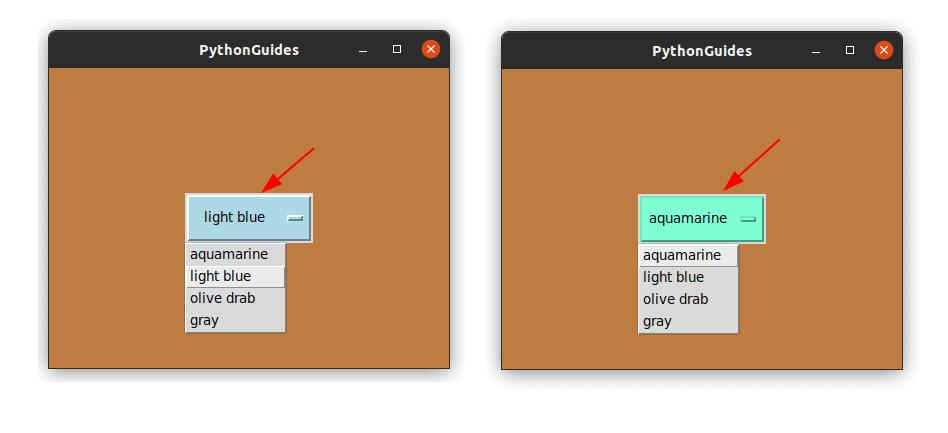 python tkinter OptionMenu style