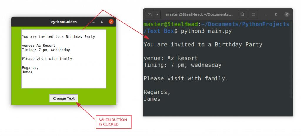 Python Tkinter Text Box Get Value