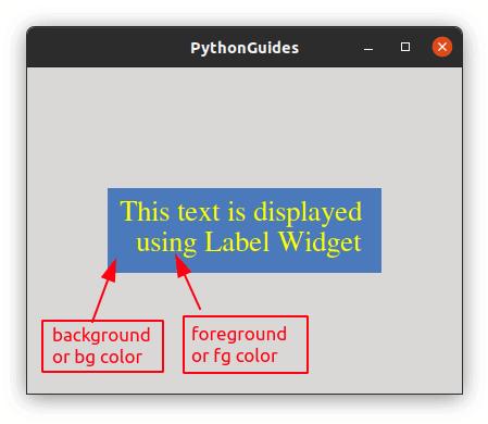 Python Tkinter Color Label