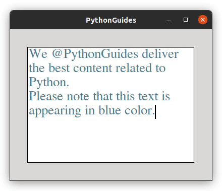 python tkinter color text