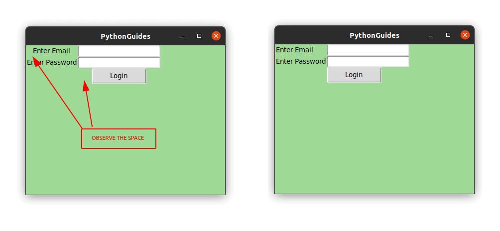 Python Tkinter Grid