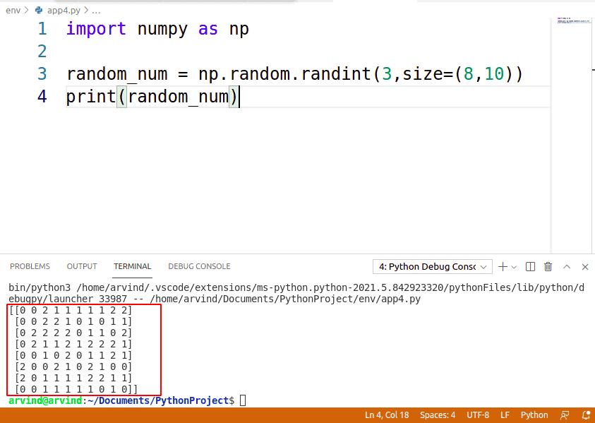 Python NumPy random between two numbers
