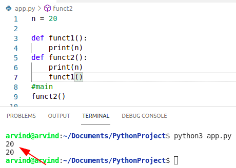 Create a global variable in python