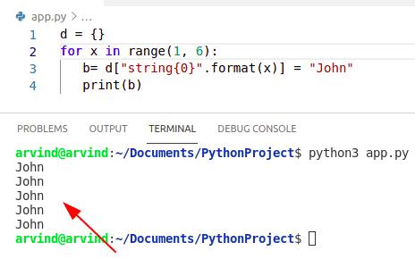 Create variabe in python loop