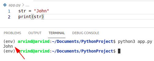 Python Create a string