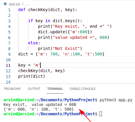 Python Dictionary update value if key exists