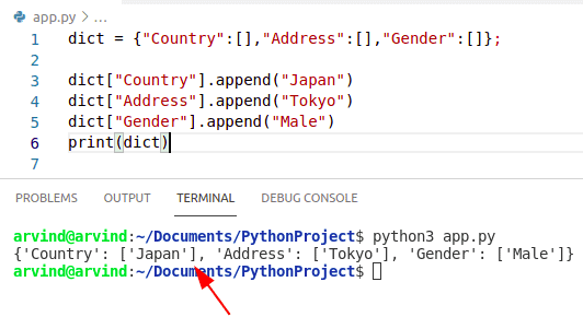 Python append dictionary values to list
