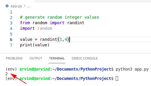 Python create a random variable