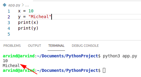 Python create a variable and assign a value
