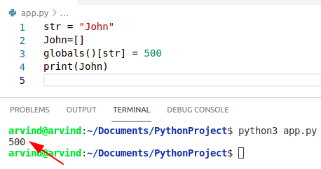 Python create a variable name from a string by globals method