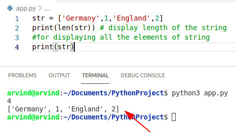 Python creates a string from a list